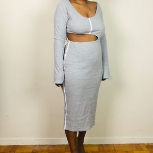 Gray cut out maxi dress